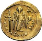 Photo numismatique  ARCHIVES VENTE 2014 -Coll J P Dixméras EMPIRE BYZANTIN JUSTINIEN Ier (527-565)  24- Solidus, Constantinople.