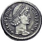 Photo numismatique  ARCHIVES VENTE 2014 -Coll J P Dixméras EMPIRE ROMAIN CONSTANCE II (César 324-337 - Auguste 337-361)  19- Argenteus ou silique lourde taillé au 1/96ème de livre, Constantinople 340.