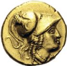 Photo numismatique  ARCHIVES VENTE 2014 -Coll J P Dixméras GRÈCE ANTIQUE Rois de MACEDOINE ALEXANDRE III le Grand (336-323) 1- Statère d'or frappé à Salamis (Chypre).