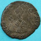 Photo numismatique  MONNAIES MONNAIES DU MONDE ITALIE CASTIGLIONE dello STIVIERE, Charles Gonzague (1678-1680)  Mezza lira.