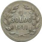 Photo numismatique  MONNAIES MONNAIES DU MONDE ITALIE LUCQUES duché, Charles Louis de Bourbon (1824-1847) 1 soldo de 1841.