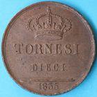 Photo numismatique  MONNAIES MONNAIES DU MONDE ITALIE NAPLES et DEUX-SICILES, Ferdinand II (1830-1859) 10 tornesi de 1835.