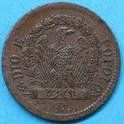 Photo numismatique  MONNAIES MONNAIES DU MONDE ITALIE ROME, 2ème République Demi baiocco de 1849.