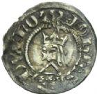 Photo numismatique  MONNAIES BARONNIALES Duché de LORRAINE JEAN Ier (1346-1389) Denier ou quart de gros, Nancy.