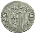 Photo numismatique  MONNAIES BARONNIALES Duché de LORRAINE FERRI IV (1312-1329) Spadin ou 1/4 de gros, Nancy.