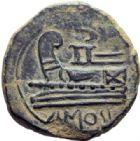 Photo numismatique  MONNAIES MONNAIES IBÉRIQUES IMITATION  As imitation de la République romaine.