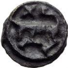 Photo numismatique  MONNAIES GAULE - CELTES CARNUTES-TURONES (Région de Chartres-Tours)  Petit potin classe III.