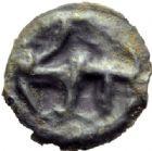 Photo numismatique  MONNAIES GAULE - CELTES CARNUTES-TURONES (Région de Chartres-Tours)  Potin aux trois mèches étirées.