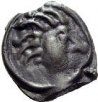 Photo numismatique  MONNAIES GAULE - CELTES SENONES (région de Sens)  Potin à la tête échevelée.