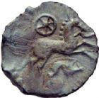 Photo numismatique  MONNAIES GAULE - CELTES AULERQUES EBUROVICES (région d'Evreux)  Bronze.