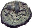 Photo numismatique  MONNAIES GAULE - CELTES BELLOVAQUES (région de Beauvais)  Bronze.