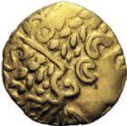 GAULE - CELTESAMBIANI (Bassin de la Somme)1/4 de stat�re d'or (2�me si�cle avant JC.).