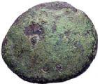 Photo numismatique  MONNAIES IBERIE- GAULE - CELTES AMBIANI (Bassin de la Somme)  1/4 de statère de bronze uniface.