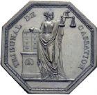 Photo numismatique  MEDAILLES MÉDAILLES ET JETONS DEPUIS LA RESTAURATION JUSTICE Tribunal de Cassation.