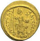 Photo numismatique  MONNAIES EMPIRE BYZANTIN JUSTIN II (565-578)  Solidus, Constantinople.
