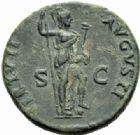 Photo numismatique  MONNAIES EMPIRE ROMAIN DOMITIEN César (69-81) Auguste (81-96)  As, Rome 92/94.
