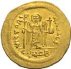 Photo numismatique  MONNAIES EMPIRE BYZANTIN MAURICE TIBERE (582-602)  Solidus.