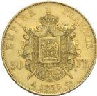 Photo numismatique  MONNAIES MODERNES FRANÇAISES NAPOLEON III, empereur (2 décembre 1852-1er septembre 1870)  50 francs or, Paris 1855.