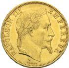 Photo numismatique  MONNAIES MODERNES FRANÇAISES NAPOLEON III, empereur (2 décembre 1852-1er septembre 1870)  50 francs or, Paris 1866.