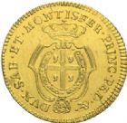 Photo numismatique  MONNAIES MONNAIES DU MONDE ITALIE SAVOIE-SARDAIGNE, Charles Emmanuel III (1730-1773) Dopietta d'or de 1768.