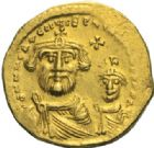 Photo numismatique  MONNAIES EMPIRE BYZANTIN HERACLIUS et HERACLIUS CONSTANTIN (613-638)  Solidus.