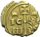Photo numismatique  MONNAIES MONNAIES DU MONDE ITALIE NORMANDS DE SICILE, Frédéric II empereur (1220-1250) Tari d'or, Messine.