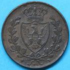 Photo numismatique  MONNAIES MONNAIES DU MONDE ITALIE SAVOIE-SARDAIGNE, Charles Félix (1821-1831) 5 centesimi de 1826.
