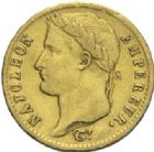 Photo numismatique  MONNAIES MODERNES FRANÇAISES NAPOLEON Ier, empereur (18 mai 1804- 6 avril 1814)  20 francs or, Paris 1812.
