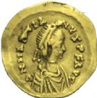 Photo numismatique  MONNAIES EMPIRE ROMAIN MARCIEN (450-457)  Triens.
