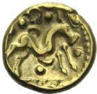 Photo numismatique  MONNAIES IBERIE- GAULE - CELTES AMBIANI (Bassin de la Somme)  Statère d'or.