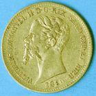Photo numismatique  MONNAIES MONNAIES DU MONDE ITALIE SAVOIE-SARDAIGNE, Victor Emmanuel II, roi élu (1849-1861) 20 lire de 1860, frappée à Turin.