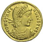 Photo numismatique  MONNAIES EMPIRE ROMAIN CONSTANCE II (César 324-337 - Auguste 337-361)  Solidus, Thessalonique.