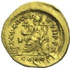 Photo numismatique  MONNAIES EMPIRE ROMAIN THÉODOSE II (408-450)  Solidus, Constantinople.
