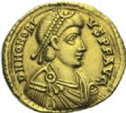 Photo numismatique  MONNAIES EMPIRE ROMAIN HONORIUS (393-423)  Solidus, Ravenne.