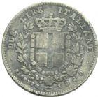 Photo numismatique  MONNAIES MONNAIES DU MONDE ITALIE SAVOIE-SARDAIGNE, Victor Emmanuel II, roi élu (1849-1861) 2 lire de 1860.