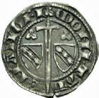 Photo numismatique  MONNAIES BARONNIALES Duché de LORRAINE RAOUL (1329-1346).  1/4 de gros, Nancy.