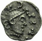 Photo numismatique  MONNAIES PEUPLES BARBARES MEROVINGIENS CITES PARIS Denier de l'évêque Merfridus, après 730.