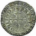 Photo numismatique  MONNAIES BARONNIALES Duché de BRETAGNE CHARLES de BLOIS (1341-1364) Gros à la couronne.