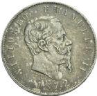 Photo numismatique  MONNAIES MONNAIES DU MONDE ITALIE SAVOIE-SARDAIGNE, Victor Emmanuel II, roi d'Italie (1861-1878) 5 lire de 1872.
