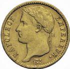Photo numismatique  MONNAIES MODERNES FRANÇAISES NAPOLEON Ier, empereur (18 mai 1804- 6 avril 1814)  20 francs, Turin 1811.