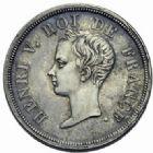 Photo numismatique  MONNAIES MODERNES FRANÇAISES HENRI V, prétendant (29 septembre 1820-1883)  1/2 franc, 1833.