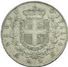 Photo numismatique  MONNAIES MONNAIES DU MONDE ITALIE SAVOIE-SARDAIGNE, Victor Emmanuel II, roi d'Italie (1861-1878) 5 lire de 1874, frappée à Milan.