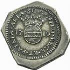 Photo numismatique  MONNAIES MONNAIES OBSIDIONALES LOUIS XIV (14 mai 1643-1er septembre 1715) AIRE-SUR-LA-LYS, siège des alliés, 1710 50 sols.