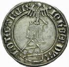 Photo numismatique  MONNAIES BARONNIALES Duché de LORRAINE JEAN Ier (1346-1389) Gros à l'écu heaumé, Nancy.