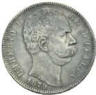 Photo numismatique  MONNAIES MONNAIES DU MONDE ITALIE SAVOIE-SARDAIGNE, Umberto Ier (1878-1900) 5 lire de 1879.