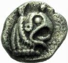 Photo numismatique  MONNAIES GRECE ANTIQUE GAULE Type du trésor d'Auriol (Ve siècle) Obole phocaïque (470-460).