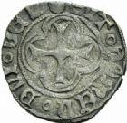 Photo numismatique  MONNAIES ROYALES FRANCAISES CHARLES VIII (20 août 1483-7 avril 1498)  Double tournois de Dijon (11 septembre 1483).