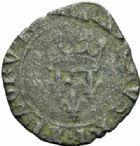 Photo numismatique  MONNAIES ROYALES FRANCAISES CHARLES VI (16 septembre 1380-21 octobre 1422) Monnayage du duc de Bourgogne Florettes, Dijon (avril – octobre 1421).