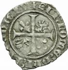 Photo numismatique  MONNAIES BARONNIALES Duché de BOURGOGNE JEAN SANS PEUR (1404-1419) Grand blanc ou guénar de Saint-Laurent à partir de 1418.