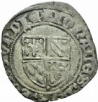 Photo numismatique  MONNAIES BARONNIALES Duché de BOURGOGNE JEAN SANS PEUR (1404-1419) Grand blanc ou guénar au croissant, Cuisery (?).